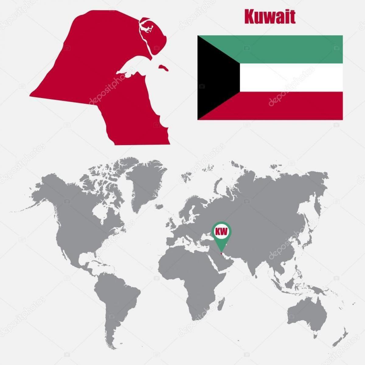 Kuwait location on world map kuwait map in world map western asia kuwait map in world map gumiabroncs Choice Image