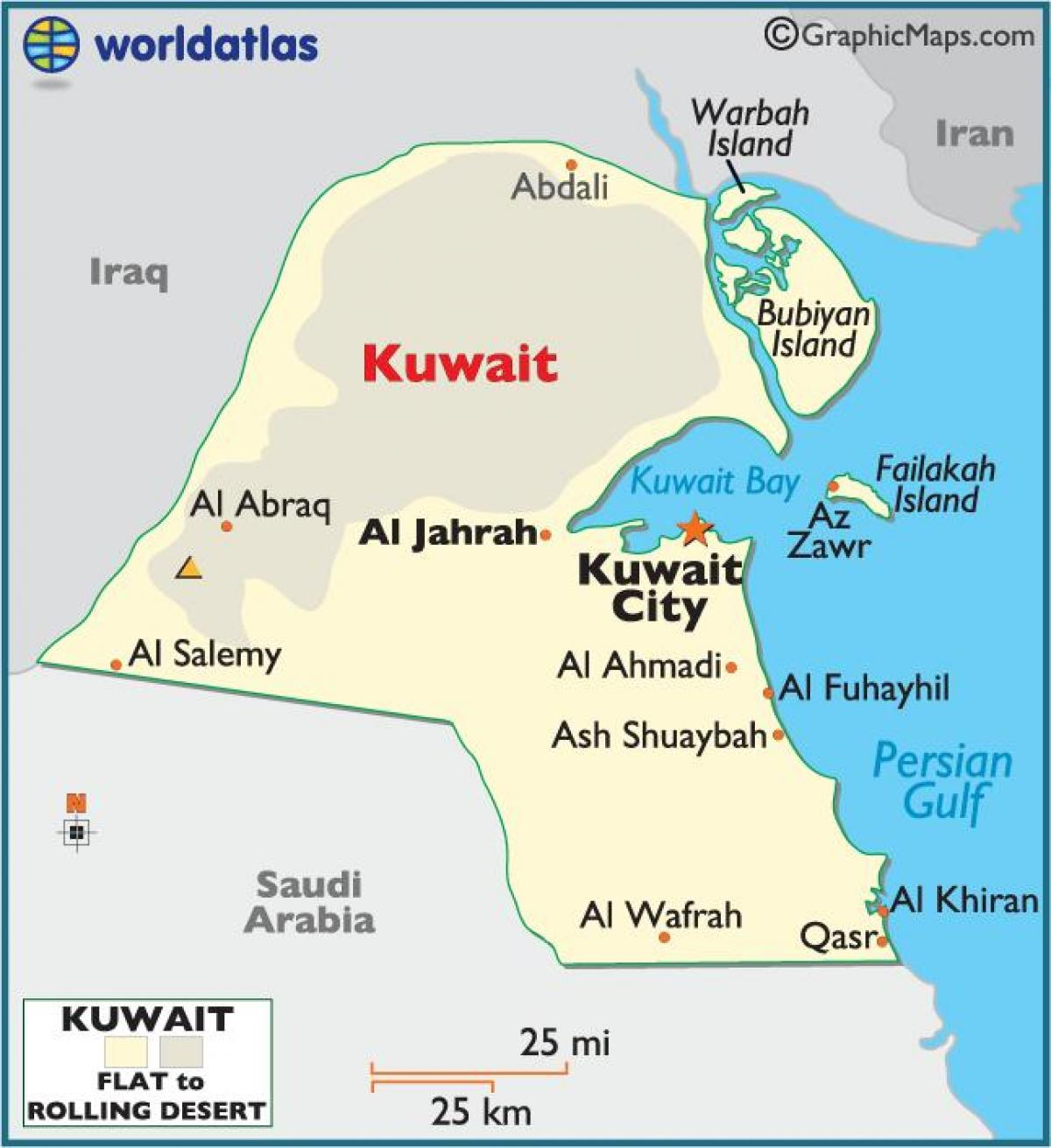 kuwait full map