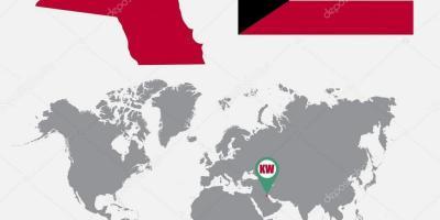 Kuwait location on world map - Kuwait map in world map ...