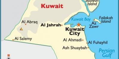 Kuwait map - Maps Kuwait (Western Asia - Asia)